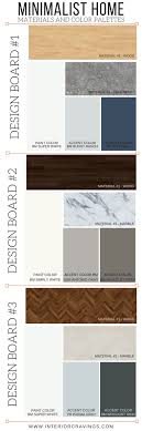 color palettes for home interior minimalist home essentials materials and color palette interior