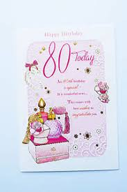 happy 80th birthday card 80 today for women verse poem words