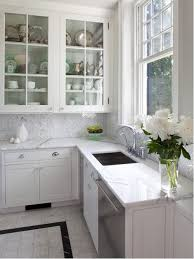 Backsplash With White Kitchen Cabinets Tile Floor With White Cabinets Houzz