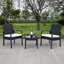 Rattan Patio Furniture Sets Goplus Hw53509 3 Ps Outdoor Rattan Patio Furniture Set Backyard