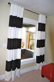 Drapery Panels 96 Delightful Black And White Striped Curtain Panels Light Panel