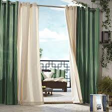 Gazebo Curtains Gazebo Stripe Grommet Top 96 Inch Indoor Outdoor Curtain Panel