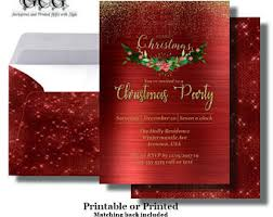 christmas brunch invitations christmas party invitations etsy