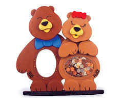 His And Hers Piggy Bank 19 W2828 His And Hers Bear Coin Banks Woodworking Plan Set