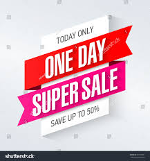 today only one day super sale stock vector 395100091 shutterstock