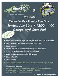 cedar valley walleye club 2017 family day