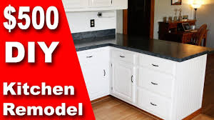 how to redo your kitchen cabinets yourself how to 500 diy kitchen remodel update counter cabinets on a budget