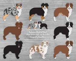 australian shepherd lovers australian shepherd clipart digital dog illustrations herding