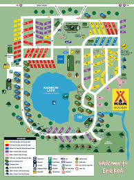 Wisconsin Campgrounds Map by Mckean Pennsylvania Campground Erie Koa