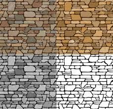 set 4 seamless grunge stone brick wall texture with various