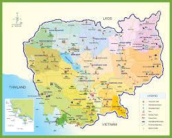 Printable Maps Printable Map Of Cambodia Printable Maps