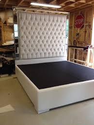 creative of tall king headboard white faux leather crystal button