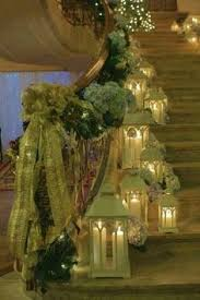 50 stunning christmas staircase decorating ideas style handrails