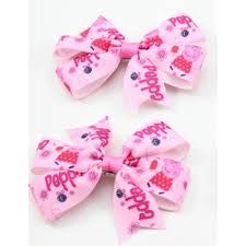 peppa pig ribbon pig ribbon bow hair clip
