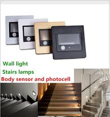 Interior Stair Lights 2017 Recessed Led Stairs Light Body Sensor U0026 Photocell Wall Sconce