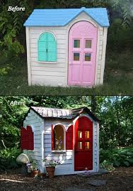 before u0026 after a little tikes house gets a paint job rustoleum