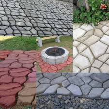 Stepping Stone Molds Uk by Building Paths Mold Country Stone Concrete Pattern Walk Stepping