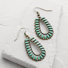 earrings world aqua and gold drop earrings world market