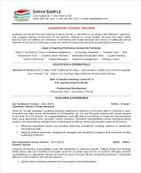 Sample Word Resume by Elementary Teacher Resume Template 7 Free Word Pdf Document