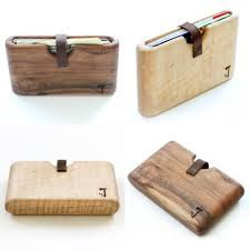 handmade wooden wallets interfob