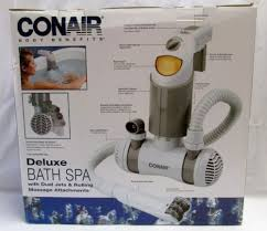 conair benefits deluxe bath spa w dual jets and rolling