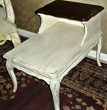 french country side table faux painting furniture vintage french country cream aged