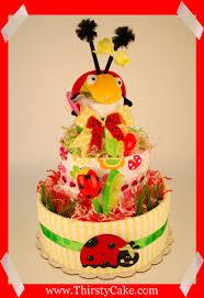 Ladybug Themed Baby Shower Cakes - ladybug diaper cake baby shower zone romande decoration