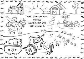 animals farm coloring pages old mcdonald printable farm truck