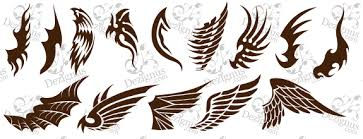 image result for tribal angel and devil heart tattoo art