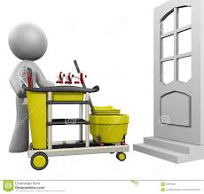 3d lady house cleaning stock illustration image 64610833