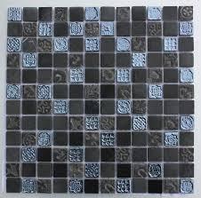 lux 009 black 25x25mm mosaic tile topps tiles