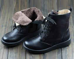 womens black leather boots sale sale winter brown leather shoes flat