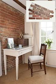 How To Paint A Faux Brick Wall - 20 easy ways to get old house charm drywall cement and square feet