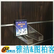 wholesale slatwall adjustable acrylic display clear wall mounted