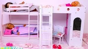 Barbie Bunk Beds Barbie Bedroom Bunk Bed Morning Routine دمية باربي غرفة نوم