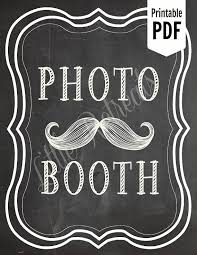 Photo Booth Sign Diy Printable Chalkboard Pdf Photo Booth Sign Photo Booth
