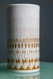 Rosenthal Glass Vase Vintage White U0026 Gold Vase From Hans Theo Baumann For Rosenthal