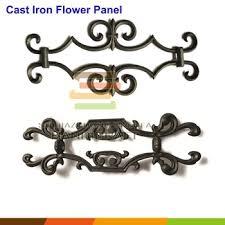 fence gate cast iron ornamental decoration antique flower panel