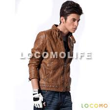 biker jacket men men faux leather motorcycle biker jacket light brown xl