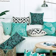 bohemian cushion covers home decor floral geometric decorative