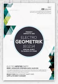 23 geometric flyer templates u2013 free psd eps ai indesign word