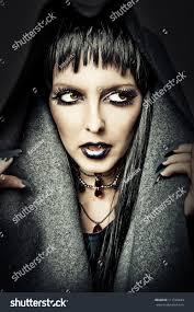 halloween style costume make evil stock photo 111520829
