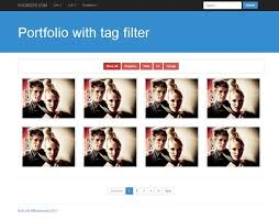 filtering portfolio by tags adaptive grid bootstrap template