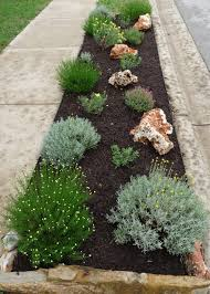 fabulous image of garden decoration with curbside landscaping