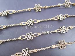 antique necklace chains images 2018 wholesale antique gold flower metal necklace chain for jpg