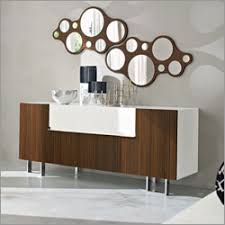 modern wenge buffet with bubbles mirror furniture u0026 home design