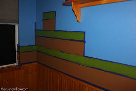 diy sponge painted minecraft walls rustic willow