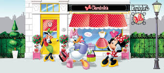 minnie mouse and daisy duck minnie and daisy with clarabelle cow wall mural wallpaper disney minnie mouse daisy duck clarabelle cow photo 202 x 90 cm yd x murals wall sticker photo murals