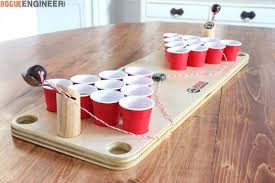 build a beer pong table diy mini beer pong game rogue engineer