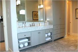 Bathroom Vanities And Linen Cabinet Sets Countertop Vanity Tower With Linen Healthfestblog